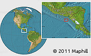 """Satellite Location Map of the area around 12°11'54""""N,88°19'29""""W"""