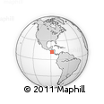 """Outline Map of the Area around 12° 11' 54"""" N, 88° 19' 29"""" W, rectangular outline"""