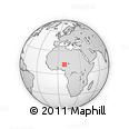 """Outline Map of the Area around 12° 11' 54"""" N, 8° 34' 29"""" E, rectangular outline"""