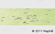 """Physical Panoramic Map of the area around 12°11'54""""N,8°34'29""""E"""