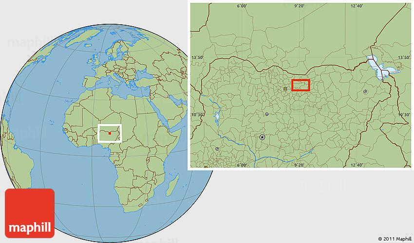 Savanna Style Location Map of Wangara