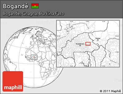 Blank Location Map of Bogandé