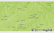 """Physical 3D Map of the area around 12°42'56""""N,0°55'29""""E"""