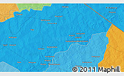 """Political 3D Map of the area around 12°42'56""""N,0°55'29""""E"""