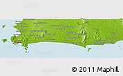 Physical Panoramic Map of Ban Choeng Noen
