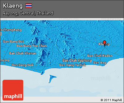 Political Panoramic Map of Klaeng