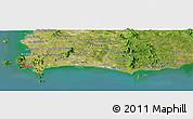 Satellite Panoramic Map of Ban Choeng Noen