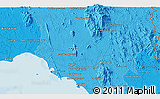 """Political 3D Map of the area around 12°42'56""""N,102°4'29""""E"""