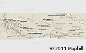 Shaded Relief Panoramic Map of Phumĭ Bœ̆ng Svay