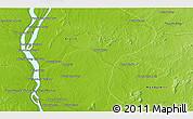 Physical 3D Map of Phumĭ Préab