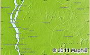 Physical Map of Phumĭ Préab