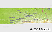 "Physical Panoramic Map of the area around 12° 42' 56"" N, 107° 10' 30"" E"