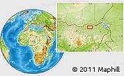 Physical Location Map of Garau