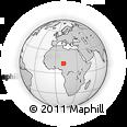 Outline Map of Garau, rectangular outline