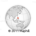 """Outline Map of the Area around 12° 42' 56"""" N, 122° 28' 29"""" E, rectangular outline"""