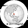 Outline Map of Monreal, rectangular outline