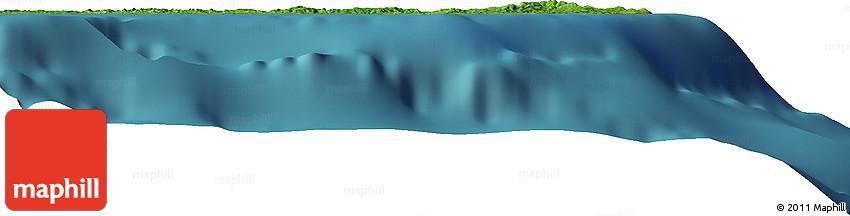"""Satellite Horizon Map of the Area around 12° 42' 56"""" N, 125° 1' 30"""" E"""
