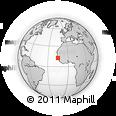 Outline Map of Kolda, rectangular outline