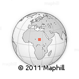 Outline Map of Gharb Darfur, rectangular outline