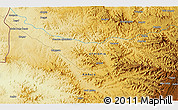 """Physical 3D Map of the area around 12°42'56""""N,36°37'30""""E"""