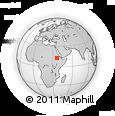 Outline Map of Āba Golja, rectangular outline
