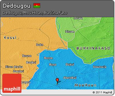 Political Panoramic Map of Dédougou