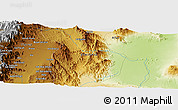 """Physical Panoramic Map of the area around 12°42'56""""N,40°1'29""""E"""