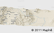 """Shaded Relief Panoramic Map of the area around 12°42'56""""N,40°1'29""""E"""