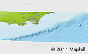 """Physical Panoramic Map of the area around 12°42'56""""N,45°7'30""""E"""