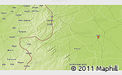 """Physical 3D Map of the area around 12°42'56""""N,4°10'30""""W"""