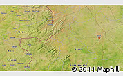"""Satellite 3D Map of the area around 12°42'56""""N,4°10'30""""W"""
