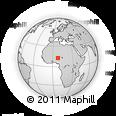 Outline Map of Abukur, rectangular outline