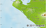"""Physical Map of the area around 12°42'56""""N,87°28'29""""W"""