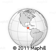 Outline Map of Chichigalpa, rectangular outline