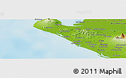 """Physical Panoramic Map of the area around 12°42'56""""N,87°28'29""""W"""
