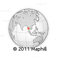 Outline Map of Tenasserim, rectangular outline