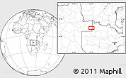 Blank Location Map of Cafana