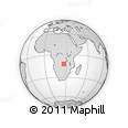Outline Map of Solwezi, rectangular outline