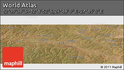 "Satellite Panoramic Map of the Area around 12°22'13""S,27°16'29""E"