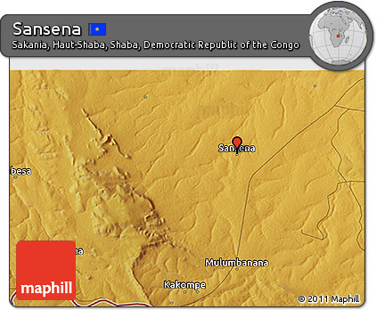 Physical 3D Map of Sansena