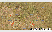 """Satellite 3D Map of the area around 12°22'13""""S,28°7'30""""E"""