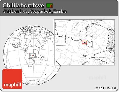 Blank Location Map of Chililabombwe