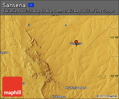 Physical Map of Sansena