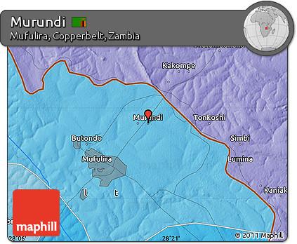 Free Political Map of Murundi
