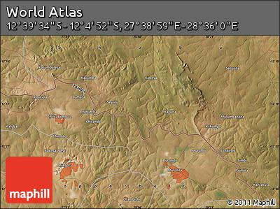 "Satellite Map of the Area around 12°22'13""S,28°7'30""E"