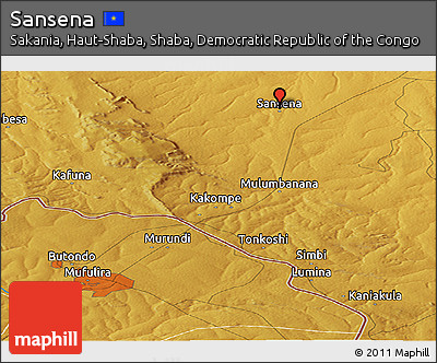 Physical Panoramic Map of Sansena