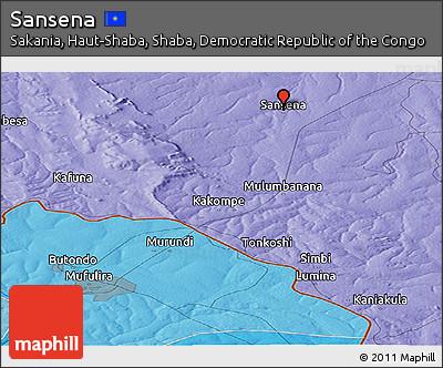 Political Panoramic Map of Sansena