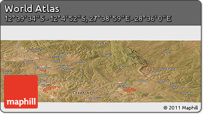 "Satellite Panoramic Map of the Area around 12°22'13""S,28°7'30""E"