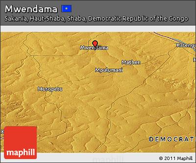 Physical Panoramic Map of Mwendama