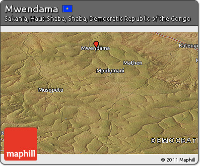 Satellite Panoramic Map of Mwendama